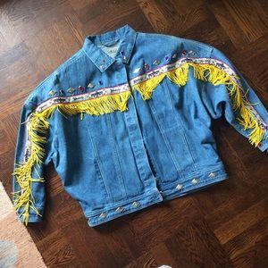 Vintage Southwestern Denim Jacket Embroidered